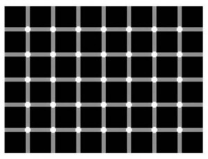 optical illusion white dots